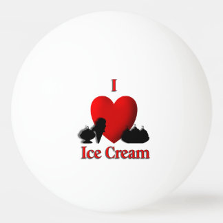I Heart Ice Cream Ping Pong Ball