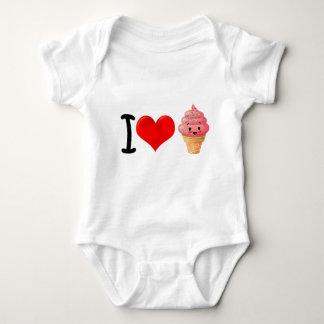 I Heart Icecream Baby Bodysuit