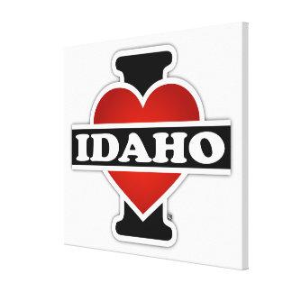 I Heart Idaho Gallery Wrapped Canvas
