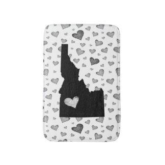 I Heart Idaho USA Bath Mat