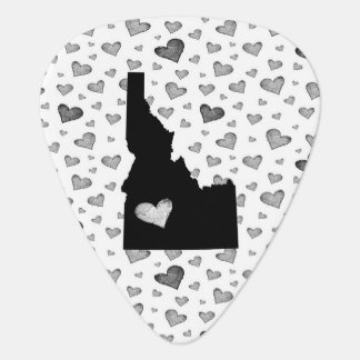 I Heart Idaho USA Guitar Pick