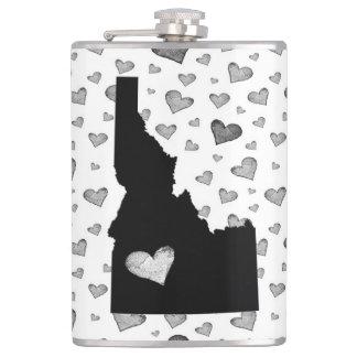 I Heart Idaho USA Hip Flask