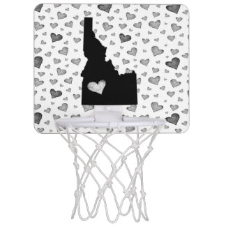 I Heart Idaho USA Mini Basketball Hoop