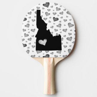 I Heart Idaho USA Ping Pong Paddle