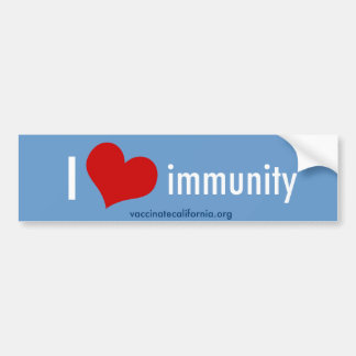 I Heart Immunity Bumper Sticker