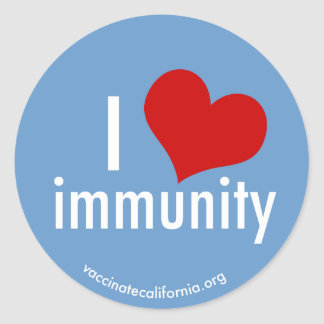 I Heart Immunity Sticker