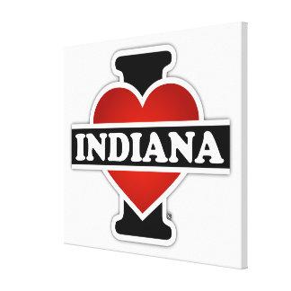 I Heart Indiana Gallery Wrap Canvas