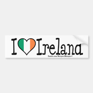 I HEART IRELAND BUMPER STICKER