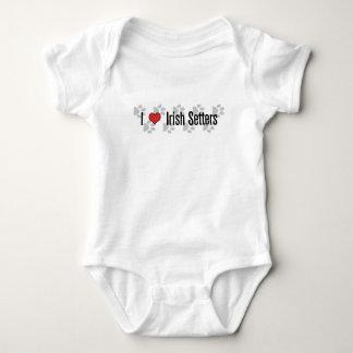 I (heart) Irish Setters Baby Bodysuit