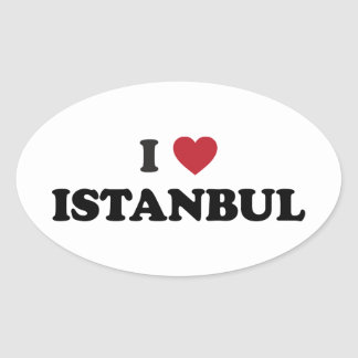 I Heart Istanbul Turkey Oval Sticker