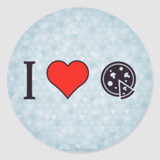 I Heart Italian Cuisine Round Sticker