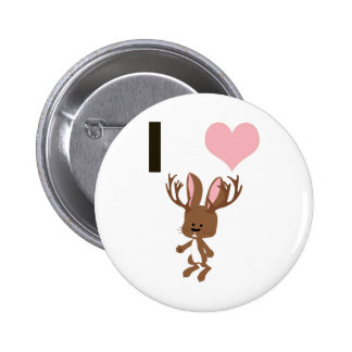 I heart Jackalope Button