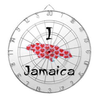 I heart Jamaica Dartboard