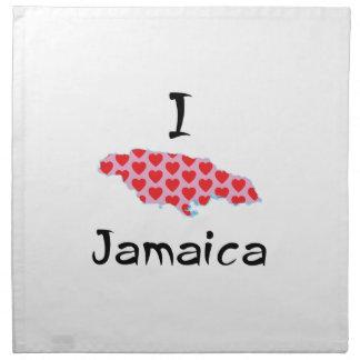 I heart Jamaica Napkin