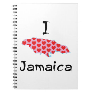 I heart Jamaica Spiral Notebook