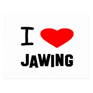 I Heart jawing Post Cards