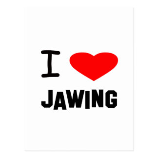 I Heart jawing Post Card