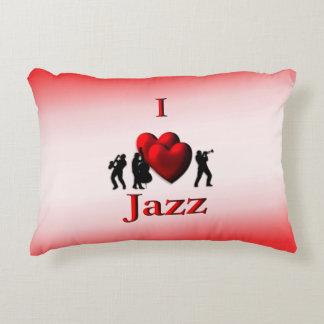 I Heart Jazz Accent Pillow