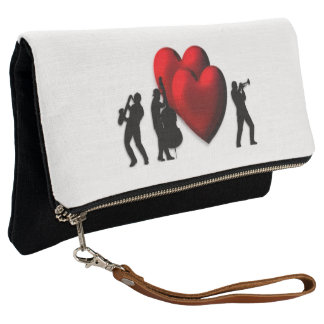 I Heart Jazz Clutch