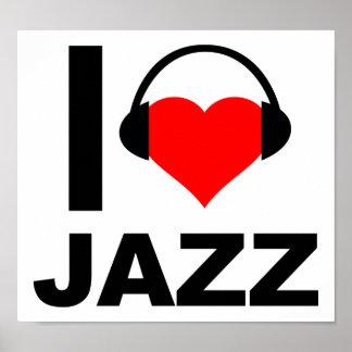 I Heart Jazz Funny Poster
