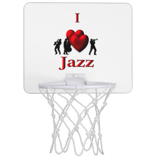 I Heart Jazz Mini Basketball Hoop