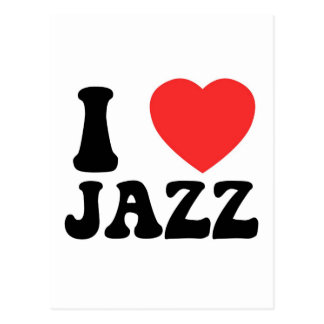 I Heart Jazz products Postcard