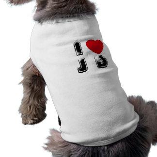 I Heart JD Dog Shirt