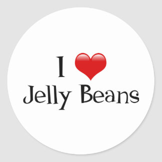 I Heart Jelly Beans Classic Round Sticker
