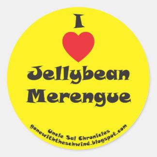 I Heart Jellybean Merengue yellow Classic Round Sticker