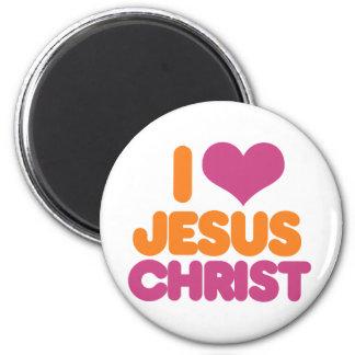 I Heart Jesus Christ 2 Inch Round Magnet