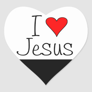 I heart Jesus Heart Sticker