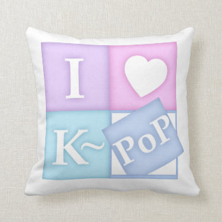 I Heart K~Pop Throw Pillow