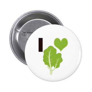 I heart Kale 2 Inch Round Button