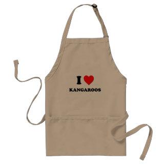 I Heart Kangaroos Apron
