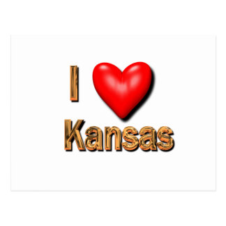I Heart Kansas Postcard