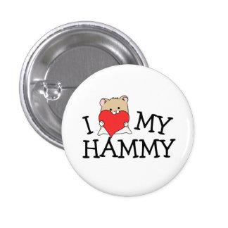 I Heart Kawaii Hammy Button