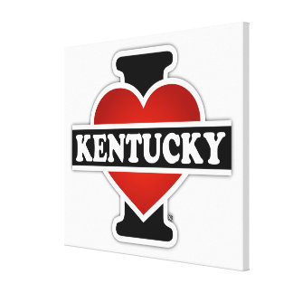 I Heart Kentucky Stretched Canvas Prints