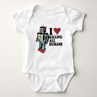 I Heart Killing All Humans Baby Bodysuit