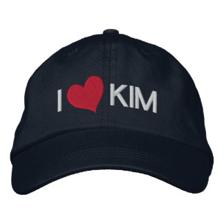 I Heart KIM Embroidered Baseball Caps