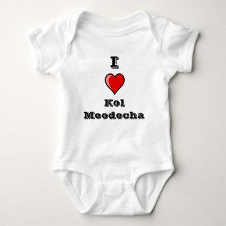 I heart Kol Meodecha Baby Bodysuit