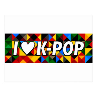 i heart korean pop postcard