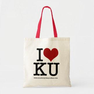I Heart KU Tote Bag
