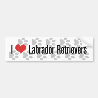 I (heart) Labrador Retrievers Bumper Sticker
