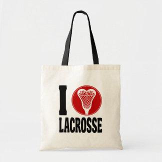 I Heart Lacrosse Tote Bag