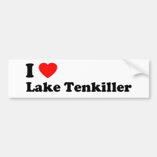 I Heart Lake Tenkiller Bumper Sticker