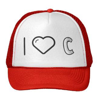 I Heart Letter Cs Trucker Hat