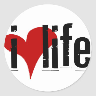 """I Heart Life"" sticker"