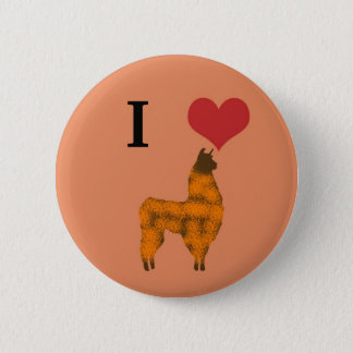 I heart llamas 2 inch round button
