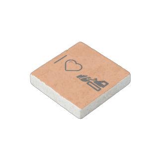 I Heart Load Bulldozers Stone Magnets