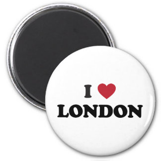 I Heart London England 2 Inch Round Magnet